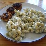 Pastasalat med krydderurter