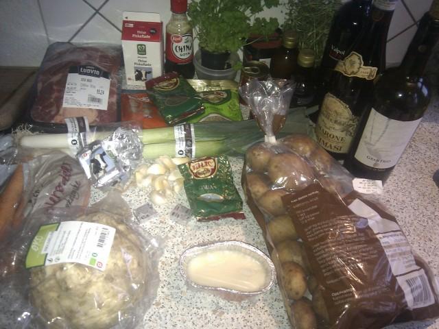 Osso Buco med fancy kartofler ingredienser