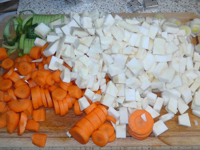 Osso Buco med fancy kartofler tilberedning