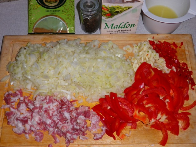Habanero con Carne tilberedning