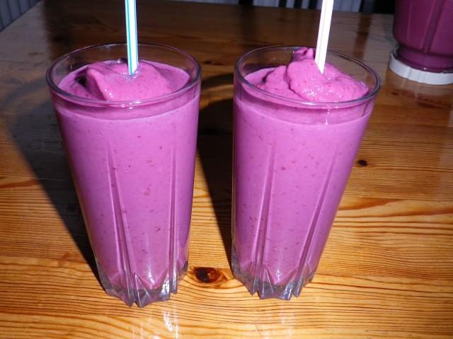 Lyserød-smoothie