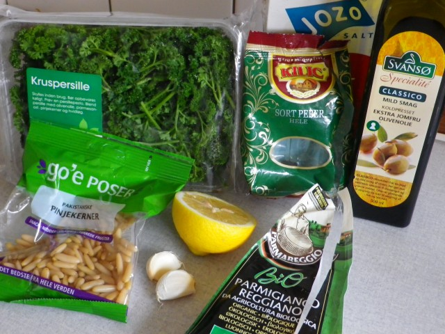 Persillepesto-ingredienser