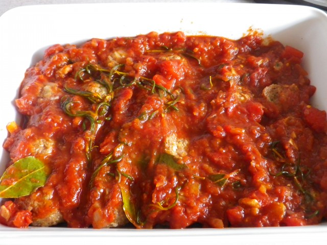 spanske kødboller - klar til ovn