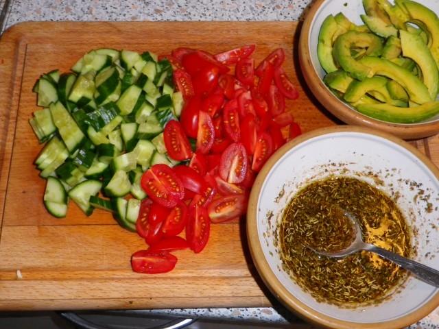 Ovnbøf salat 1
