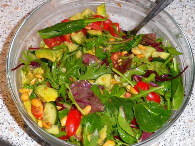 Ovnbøf salat