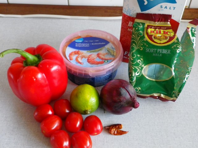marinerede krebsehaler - ingredienser