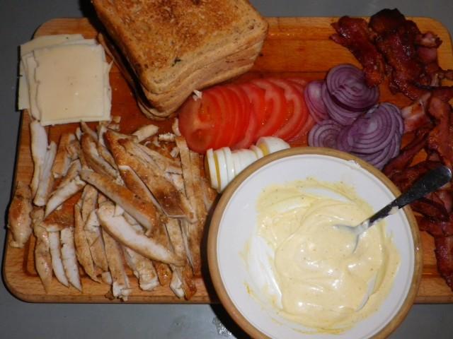 Club sandwich tilberedning