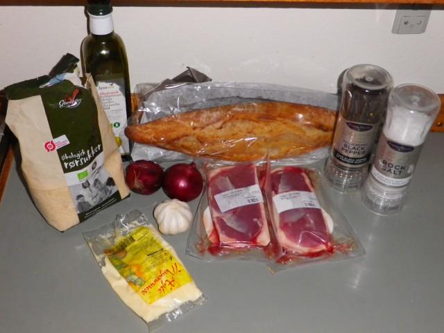 pintxos med andebryst - ingredienser
