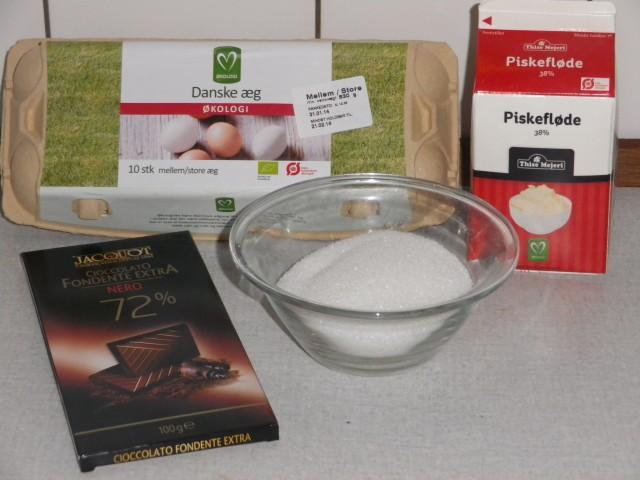 lagkage - m_rkmousse ingredienser