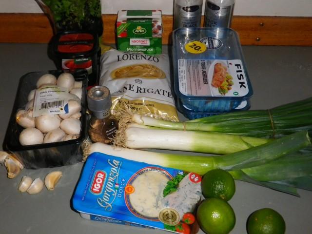 Laks i ovn ingredienser