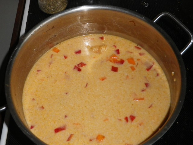 red curry suppe - suppen simrer