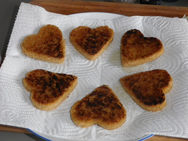 kantarel canapé - brød stegt