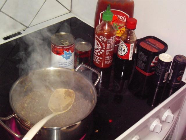 Taco buffet tilberedning 3