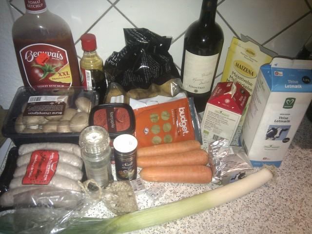Julemedister med pynt ingredienser