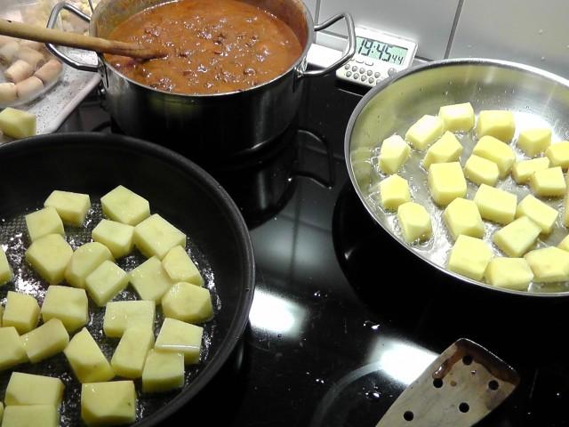 Osso buco med fancy kartofler komfur
