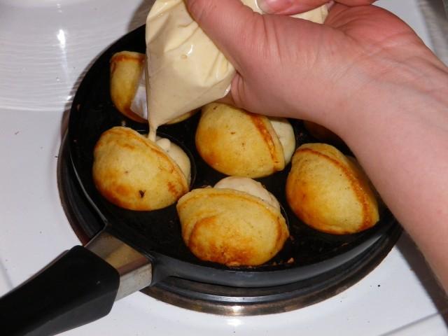 æbleskiver-efterfyldes