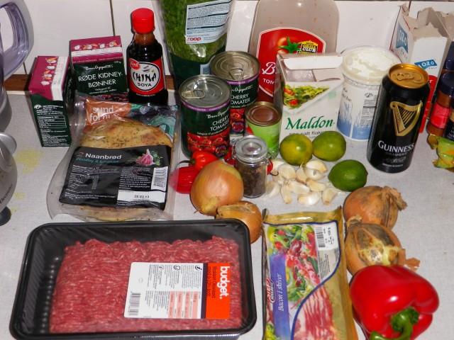 Habanero con Carne ingredienser