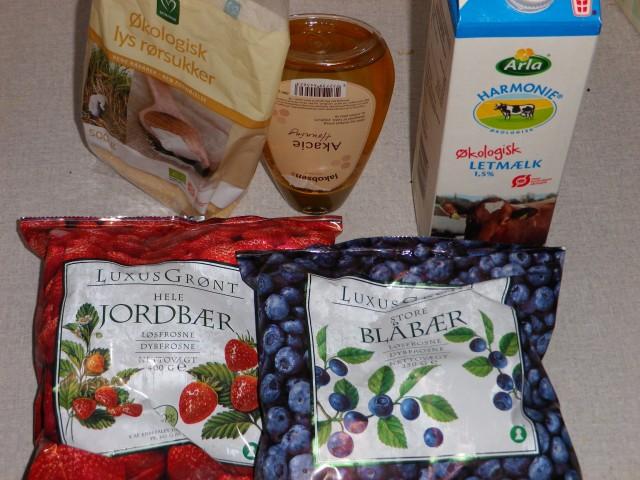 Lyserød-smoothie-ingredienser