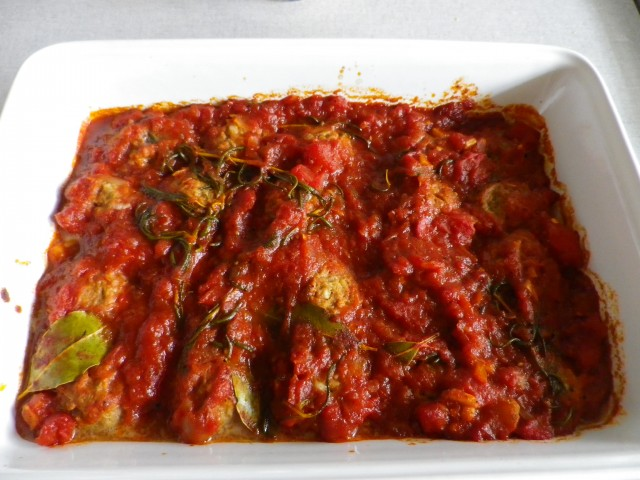 spanske kødboller - færdig