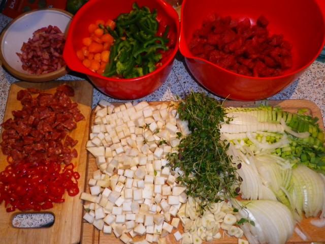Gullasch suppe tilberedning