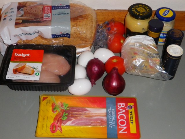 Club sandwich ingredienser