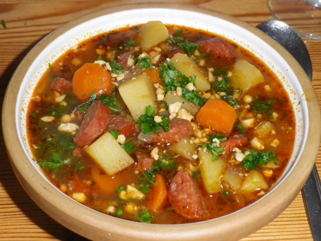 Chorizo suppe