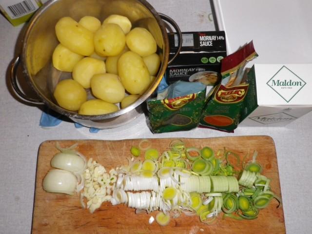 Mornay kartofler tilberedning