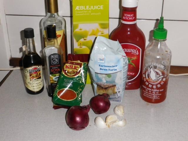 pulled pork - barbecue sause ingredienser