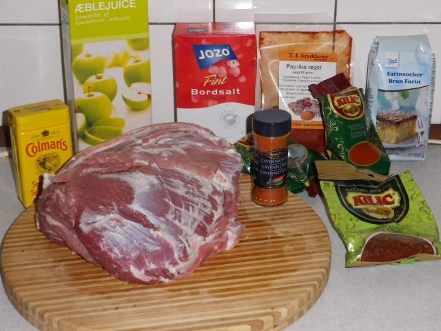 pulled pork - ingredienser