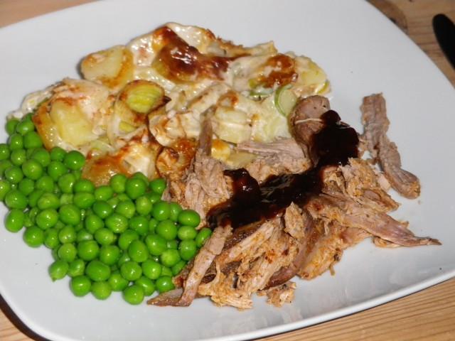 pulled pork - serveret