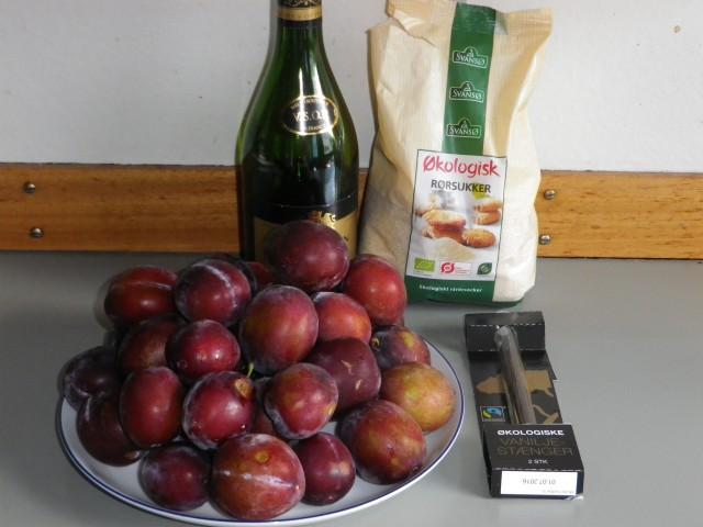 blommemarmelade -ingredienser