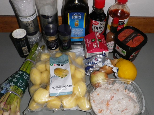 Dekadente fiskefrikadeller ingredienser