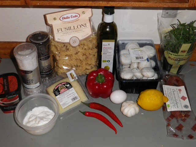 Spansk pasta - ingredienser
